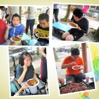 4)食べる