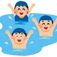 夏休みイベント第4弾 プールで泳ぎました